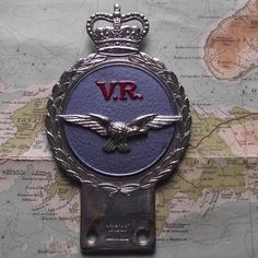 Quality Gaunt Heavy Chrome Painted Car Mascot Badge RAF VR
