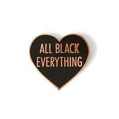 Did you see that I released a rose gold hard enamel version of the OG All Black Everything love heart? I love the combination of black enamel and metals, giving a really crisp and sharp appearance, but with the rose gold there is a warmth to it that really compliments the heart shape. Anyhoo... You can pick this up in store now, and I have added a few new ABE bundles too which include this pin and the all black embroidered patch. [Shop link in bio]