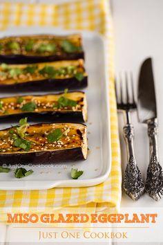 Miso Glazed Eggplant | Easy Japanese Recipes at JustOneCookbook.com
