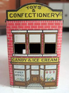Tracy's Toys (and Some Other Stuff): Miniature Tin Toy & Candy Shop