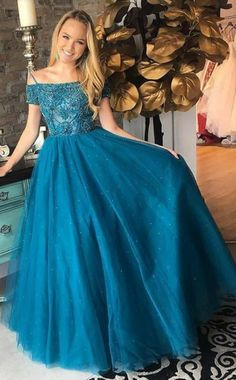 <img> Tulle Evening Dresses,Beading Prom Dresses,A-Line Prom Gown - Classy Prom Dresses, Sequin Prom Dresses, Beaded Prom Dress, A Line Prom Dresses, Prom Party Dresses, Sexy Dresses, Dresses With Sleeves, Evening Party Gowns, Evening Dresses