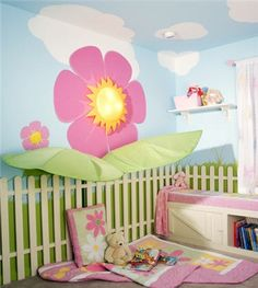 Brightness with flower girl's room