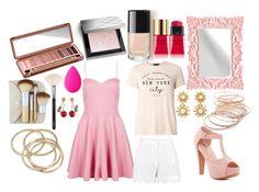 """Pretty Pretty Pink"" by manyskies on Polyvore featuring Urban Decay, Burberry, Yves Saint Laurent, Top Moda, Red Camel, Dorothy Perkins, ZOEVA, beautyblender, Boohoo and Oscar de la Renta"