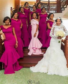 Nigerian weddings on fb Bridesmaids And Groomsmen, Wedding Bridesmaid Dresses, Wedding Attire, Bridal Dresses, Wedding Gowns, Reception Dresses, African Fashion Dresses, African Dress, Briadsmaid Dresses