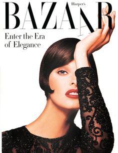 Linda Evangelista by Patrick Demarchelier Harper's Bazaar, September 1992