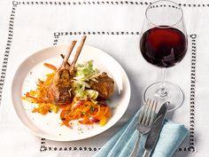 """Lammkotelett auf Salat """"Ratatouille"""" #Foodpairing #Lammkotelett #Rotwein"""