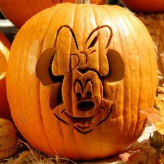Minnie Mouse Pumpkin-Carving Template @Brandi Bennett For Grayce!!