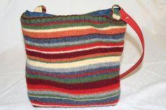 Purse made out of a felted Sweater (I think last year's Abercrombie) based on the basket purse design by Lisa Lam. u-handbag.typepad.com/uhandblog/
