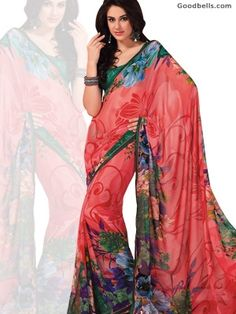 Now new Beautiful Floral Printed Peach Saree will be available in just $40.00 instead of $45.00. So hurry up and buy it online at: http://goodbells.com/saree/beautiful-floral-printed-peach-saree.html?utm_source=pinterest_medium=link_campaign=pin11juneR18P40