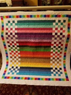 Love the stunning simplicity of this quilt. What to do with left over jelly roll strips! This would be great with those end of bolt yardages for charity sewingThis is a stunning Batik quilt top! Batik Quilts, Jellyroll Quilts, Scrappy Quilts, Easy Quilts, Children's Quilts, Amish Quilts, Jelly Roll Quilt Patterns, Baby Quilt Patterns, Quilt Baby