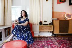 """Rose was initially inspired by vintage fashion, but her fascination with the era has since extended to home decor, particularly 1940s and 1950s vintage home design. """"I'm not so much a re-interpreter as I am a faithful devotee of the original look,"""" she says."""