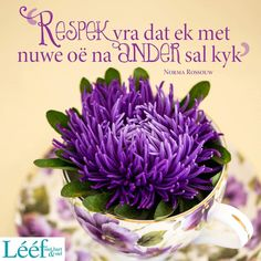 Afrikaanse Quotes, Good Morning Inspirational Quotes, Young Living Essential Oils, Positive Quotes, Words, Bible, Wisdom, Gift Ideas, Facebook