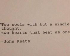 John Keats Quote Typed on Typewriter / by WhiteCellarDoor on Etsy