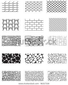 Shutterstock 컬렉션에서 HD 화질의 건물 벽 질감의 모음입니다.석재, 벽돌, 지붕, 스톡 이미지와 수백만 개의 사용료 없는 다른 스톡 사진, 일러스트, 벡터를 찾아보세요.  매일 수천 개의 고품질 사진이 새로 추가됩니다. Architecture Drawing Sketchbooks, Landscape Architecture Drawing, Architecture Concept Drawings, Landscape Sketch, Landscape Drawings, Landscape Design, Architectural Drawings, Texture Architecture, Architecture Symbols
