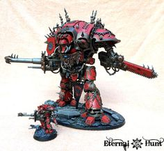 Chaos Knight, Chibi-knight, Conversion, Daemon Knight, Epic 40k, Harrowthorne, Imperial Knight, Khorne's Eternal Hunt, Kitbash, Knight Titan, Warhammer 40,000, World Eaters