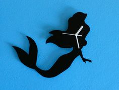 Ariel Mermaid Silhouette  Wall Clock by SolPixieDust on Etsy