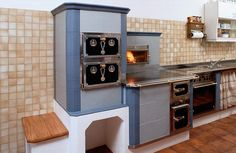 Küchenherde Cordwood Homes, Wood Stoves, Kitchen Wood, Hearth, Cooking, Ideas, Home Decor, Kitchens, Fireplaces