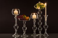 Candle Holders and Fruit Holders for Wedding Decorations, special occasions - shop on gabrielaseres.com Fruit Holder, Fountain, Special Occasion, Candle Holders, Wedding Decorations, Candles, Glass, Shop, Handmade