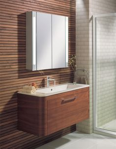 Celeste American Walnut Bathroom Furniture Range from Crosswater http://www.bauhaus-bathrooms.co.uk/category/celeste-american-walnut/