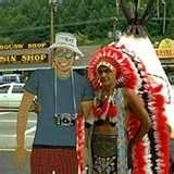 Chief Henry Lambert - Cherokee, N.C.  I had my picture taken with him in 3 different decades!