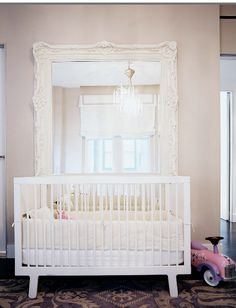 This is stunning, Cara! :) LOVE it! We can look at baby room stuff together! :)  inspiremyday:    This is beautiful! Like the idea that baby can look in the mirror and play.  So excited to be looking at baby room ideas now!