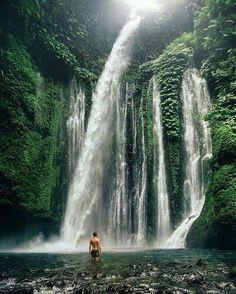 Tiu Kelep waterfall, Lombok Island, Indonesia.