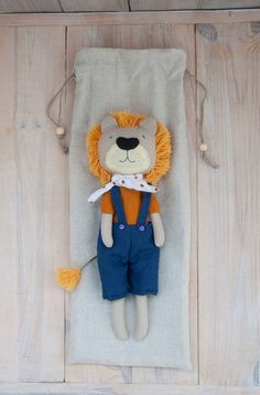 Handmade Baby, Handmade Toys, Lion Toys, Fabric Dolls, Tweety, Snoopy, Organic, Suits, Sewing