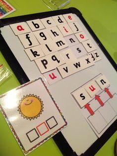 Making CVC words - Teachable Moments blog