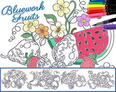 Here's another fun machine embroidery design that you can color in! Use fabric markers, crayons or paint! Only $2 each!