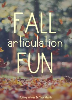 Fall articulation AND language ideas from my speech room to yours!! Books, games, crafts...PLUS, TWO freebies! #fallspeechtherapy #ghostbowling #speechtherapyideas #fallcraft #speechgames #fallspeechandlanguage #fallgames #fallbooks #fingerprintart #autumnspeechandlanguage #speechcrafts #speechfreebie #puttingwordsinyourmouth #fallspeechtherapyactivities