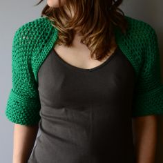 crochet green bolero