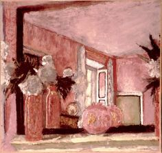 Still Life on a Mantelpiece (tempera on paper mounted on card), Vuillard, Edouard (1868-1940)  yay for pink paintings