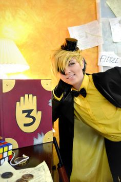 Can we stop a chat about JJ's smile? She's killing it as Bill! Bill Cipher - JJ