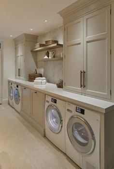 Mudroom Laundry Room, Laundry Room Remodel, Laundry Room Organization, Laundry Room Design, Laundry Room Countertop, White Laundry Rooms, Laundry Room Cabinets, Laundry Baskets, Organization Ideas