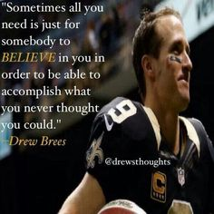 And we needed you Drew Brees! Match made in Saints heaven! Saints Players, Nfl Saints, New Orleans Saints Football, Saints Memes, Best Football Team, Football Baby, Football Memes, Football Stuff, Alabama Football