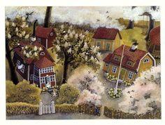 Ilon Wikland - a wonderful Swedish (Estonian born) illustrator who is well-known for all her illustrations to Astrid Lindgren's books of Bröderna Lejonhjärta, Mio min Mio, Barnen i Bullerbyn, Ronja Rövardotter and more.