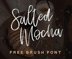 Salted Mocha Free Brush Font