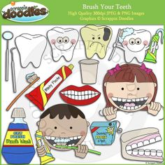 Brush Your Teeth Clip Art - $3.50 : Scrappin Doodles, Creative Clip Art, Websets & More