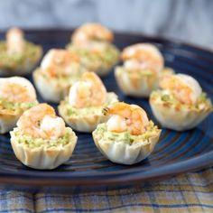 Photo for Asparagus Hummus and Shrimp Bites
