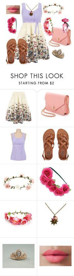 """""""Daughter of Rapunzel and Eugene #4"""" by luv-virgo-girl ❤ liked on Polyvore featuring Jolie Moi, Tory Burch, Billabong, Accessorize, Dorothy Perkins, LORAC and GUESS"""