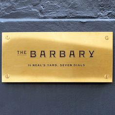 The Barbary restaurant is situated in Neal's Yard in Covent Garden. It takes inspiration from the Barbary Coast of North Africa, along the Mediterranean coast to Israel.