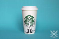 #Starbucks #coffee #cups #café #illustration #ilustracion #fisher #pescador #fish #pescado #Siren #Sirena