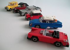 Lego Cars - check out entire blog! Lot's of ideas. :)