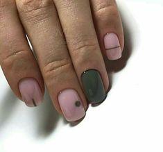 cutesy, easy breezy polish nails design ideas for newbies 12 ~ thereds.me - cutesy, easy breezy polish nails design ideas for newbies 12 ~ thereds. Best Nail Art Designs, Short Nail Designs, Stylish Nails, Trendy Nails, Olive Nails, Short Nails Art, Manicure Y Pedicure, Minimalist Nails, Green Nails