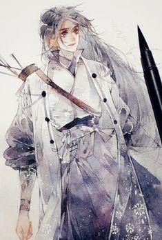 Manga Watercolor, Watercolor Artwork, Manga Art, Anime Art, Character Art, Character Design, Anime Kimono, Manga Illustration, Illustrations