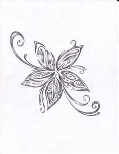 My dad use to draw flowers like this all the time... Going to have him draw one and get that as a tattoo