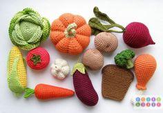 Crocheted légumes by Olga of OlinoHobby