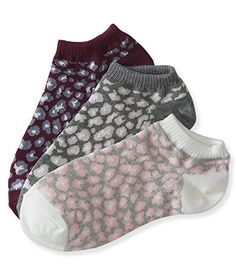 Aeropostale Womens 3Pack Leopard Ankle Socks Lightest Heather Grey -- Be sure to check out this awesome product.