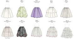 Skirt options for custom flowergirls