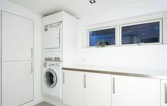 Stacked Washer Dryer, Washer And Dryer, Home Organization, Washing Machine, Laundry, Home Appliances, Organize, Workshop, Garage